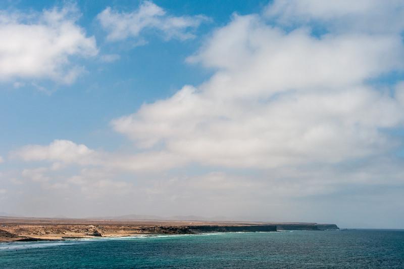 Cliffs near El Cotillo beach in Fuerteventura, Spain