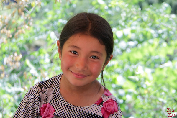 Portrait Kyrgyzstan: beautiful little girl