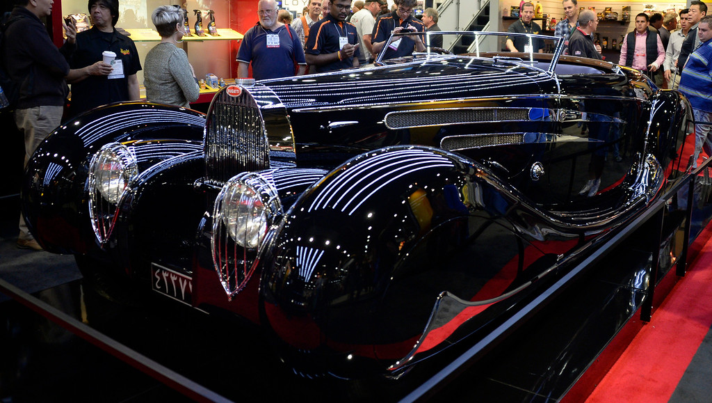. Nov 6,2013 Las Vegas NV. USA. A 1939 Bugatti on display during the second day of the 2013 SEMA auto show. Photo by Gene Blevins/LA Daily News