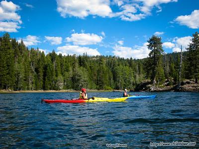 Lake Valley reservoir, kayaking 2011