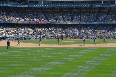 Diamond Backs at Dodgers, Top of the Eighth, 20 April 2014