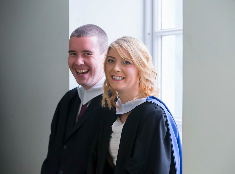 07/01/2015. FREE TO USE IMAGE. WIT (Waterford Institute of Technology) Conferring, Pictured are Jonathan Griffith from Waterford and Sinead Corcoran, Mullinavat, Co. Kilkenny who graduated in Bachelor of Science in Pharmaceutical Science. Picture: Patrick Browne