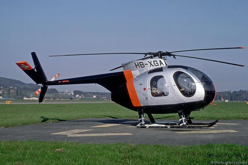 HB-XGA Hughes 369HE Private @ Bern Switzerland 25Mar95