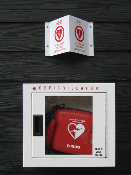 Defibrillator device.