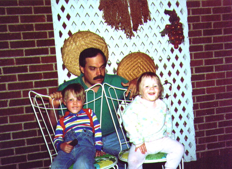 Mikey, Mike & Sophie on our deck  .jpg