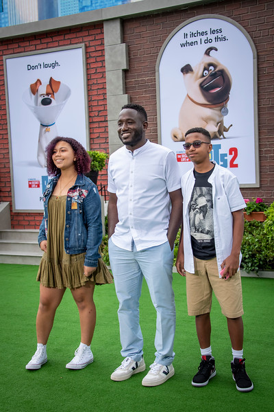 WESTWOOD, CALIFORNIA - JUNE 02: Hannibal Buress and guests attend the Premiere of Universal Pictures' 'The Secret Life Of Pets 2' at Regency Village Theatre on Sunday, June 02, 2019 in Westwood, California. (Photo by Tom Sorensen/Moovieboy Pictures)
