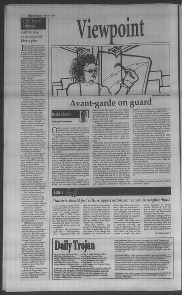 Daily Trojan, Vol. 133, No. 55, April 09, 1998