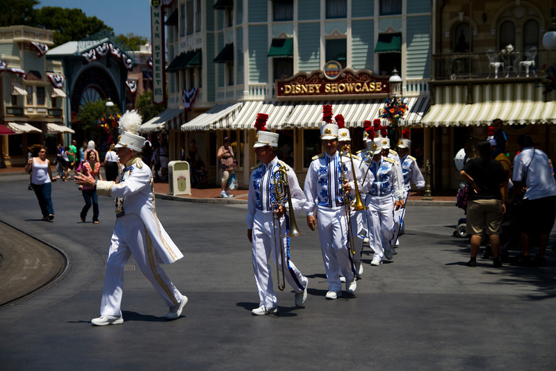 Disneyland Band in Main Street USA