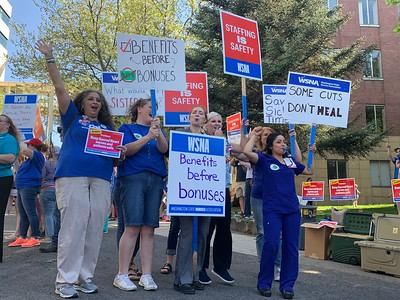 2019 Unity Picket - Sacred Heart (Spokane) and Kadlec (Richland) - May 9, 2019