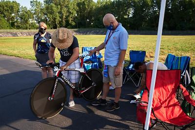 Paul Coluccio's Hour Record Race in Kissena Velodrome 7/19/20