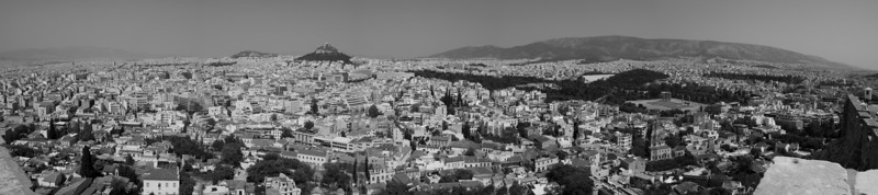 Athens from the Acropolis facing north