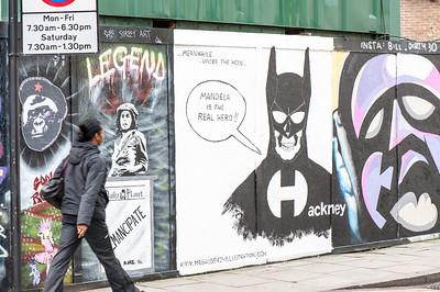 Graffiti on the wall, Hackney Road, London, United Kingdom
