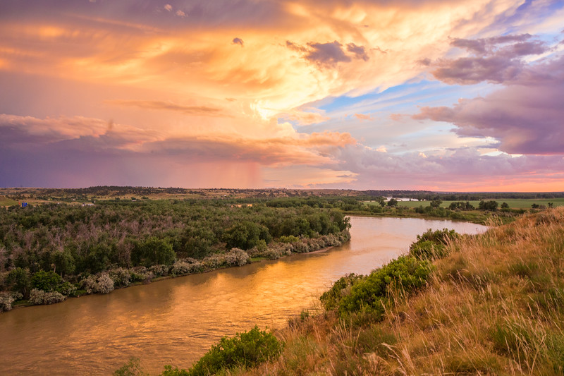 Thunderstorm over the Yellowstone River