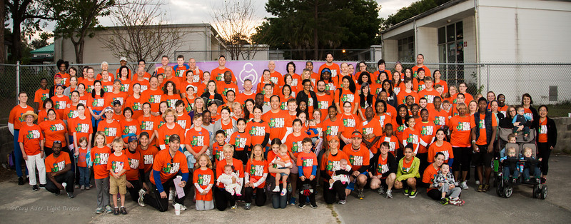 Thank you, Shands Healthcare, for making my first group shot go so well.  Moved into formation so quickly, and...not one person with their eyes closed?  At 7:15 a.m.?  You're amazing!  Thank you also for giving your Saturday morning to the March of Dimes!