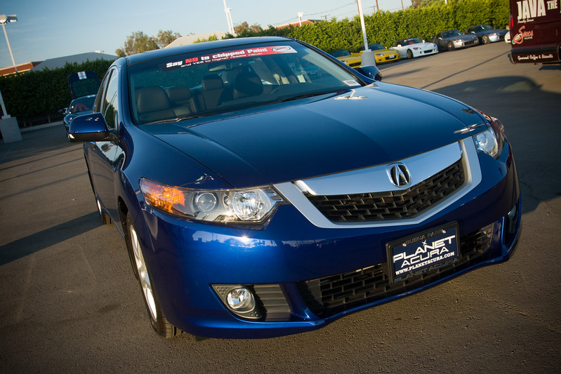The new TSX grille is atrocious, but Pete and I are glad that we test drove the one with the manual transmission.  It sounds and feels great!