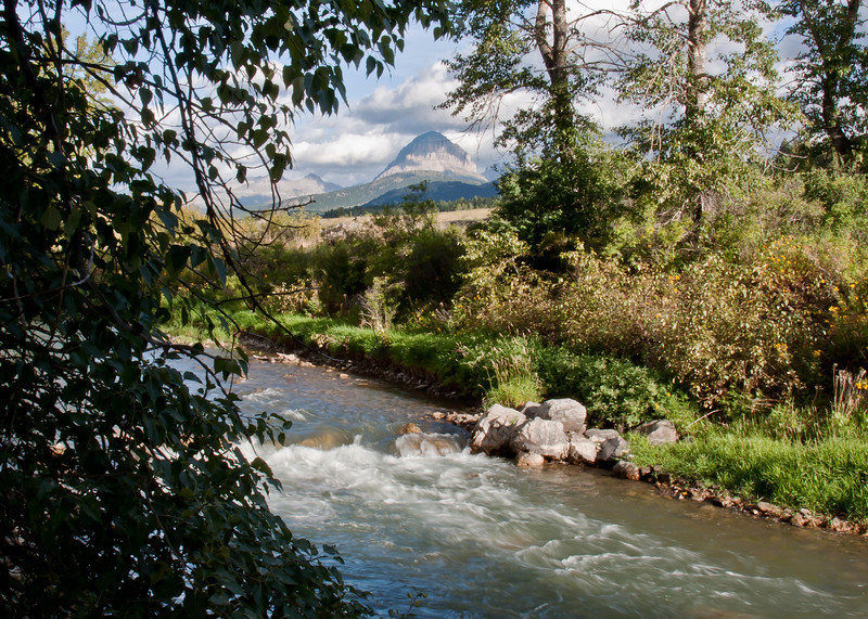 Crowsnest Mountain and the Crowsnest River
