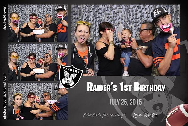 Raider's 1st Birthday (Mini Open Air Photo Booth)