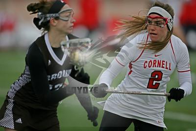 3/21/2015 - NCAA Women's D1 - Brown University vs. Cornell University -  Schoellkopf Field at Cornell University, Ithaca, NY