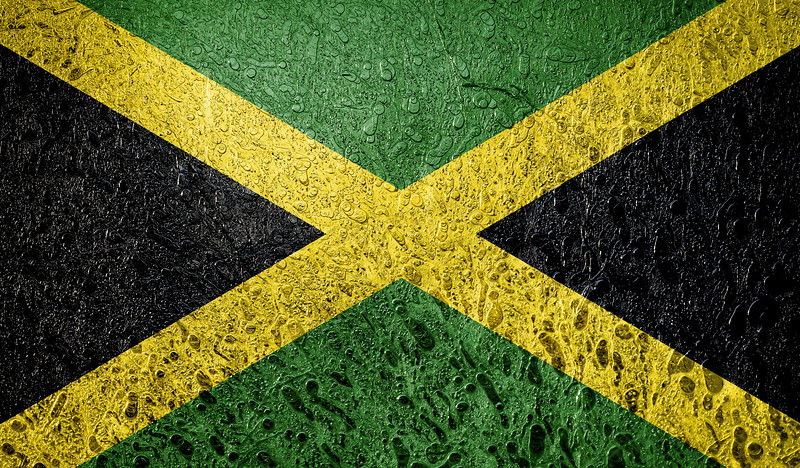 Abstract flag of Jamaica,