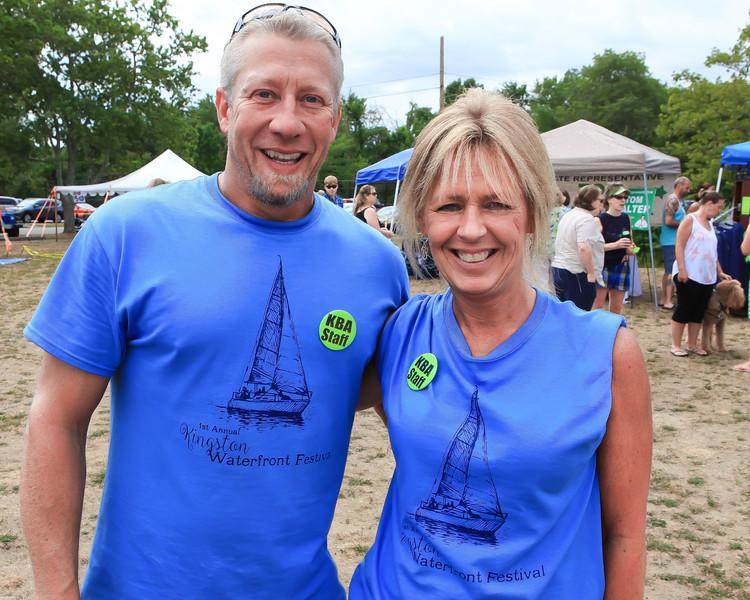 KBA VP David  Struski and President  Donna Smith-Bocash show off their 1st  Annual Kingston Waterfront Festival.  Wicked Local Photo/Denise Maccaferri
