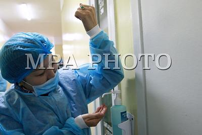 Эрүүл мэндийн сайд Д.Сарангэрэл ,Халдварт Өвчин судлалын үндэсний төвд ажиллаа