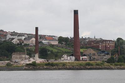 Inverkeithing Paper Mill Chimney Demolition