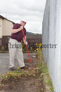 Mount Pleasant resident Brian Larkin has taken it on himself to clear the weeds from the kerbs. R1630018