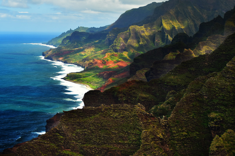 Beautiful Na Pali cost from above, Kauai, Hawaii