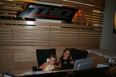 Brittany & Lindsey visit THQ