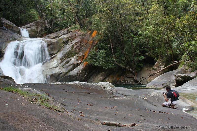 Craig taking photos of Josiphine Falls