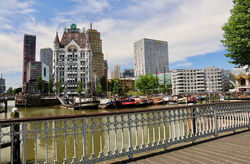 The Witte Huis (White House), an Art Nouveau building built in 1898, is one of the few buildings in central Rotterdam to survive the German bombing campaigns of World War II
