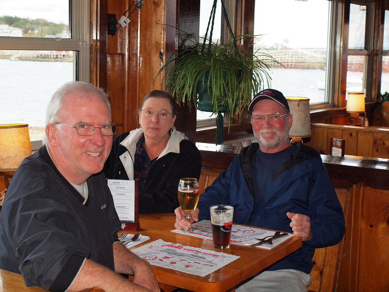 Inside Cook's Lobster House - good food and good cold beer!