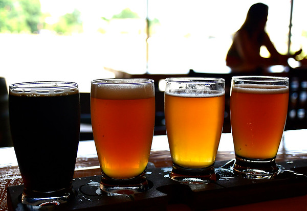 7/27/2019 Mike Orazzi | Staff A flight of beer at Better Half Brewing in downtown Bristol on Saturday.