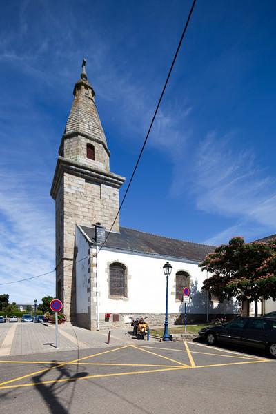 Parish church, town of Erdeven, departament of Morbihan, Brittany, France