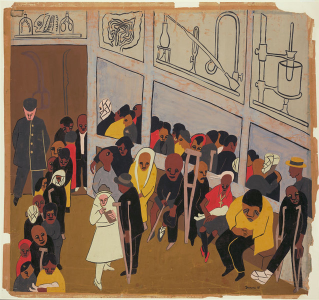 "Jacob Lawrence, ""Free Clinic"" (1937)"
