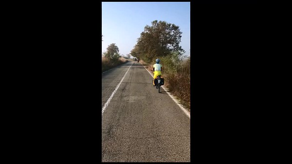 Venice to Florence by bicycle - video