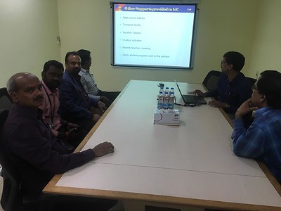 NRIVA Team's visit to GMR Foundation