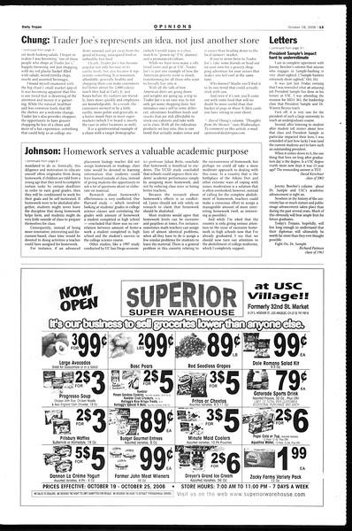 Daily Trojan, Vol. 159, No. 41, October 18, 2006