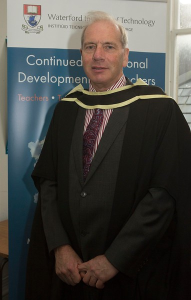 28/10/2015 Image Free to Use. Conferring at Waterford Institute of Technology. John Watters from Sligo Master of Arts in Community in Teching & Learning in Further & Higher Education.Photo; Mary Browne
