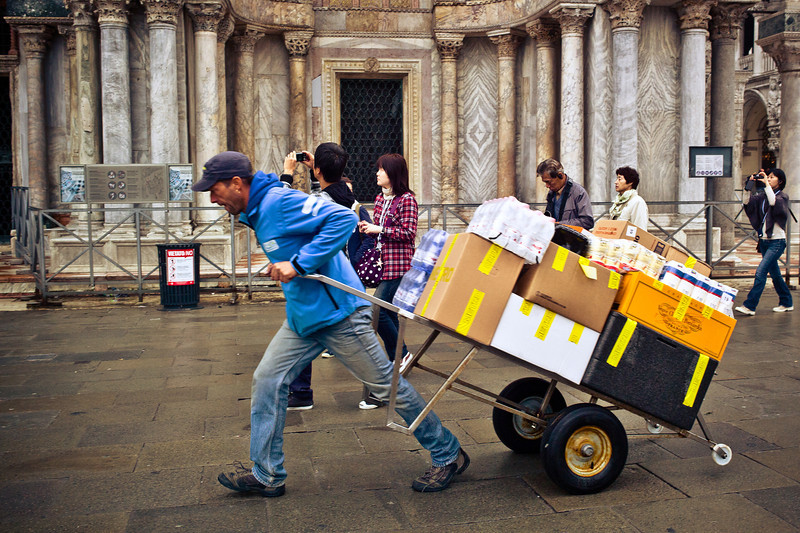 Venice delivery truck