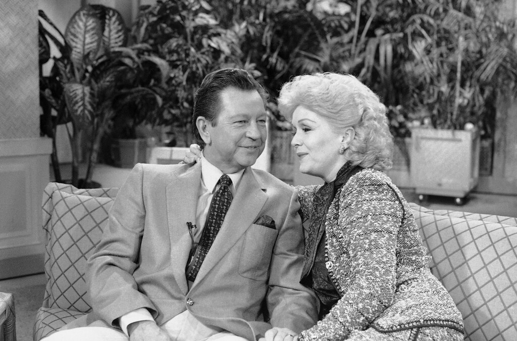". In this photo provided by ABC-TV, ""It was magic when we made \'Singing in the Rain\' and we wanted to recapture the magic,\"" said Debbie Reynolds, as she and Donald O\'Connor were interviewed on ABC\'s \""Good Morning America\"" show, Aug. 6, 1986 in New York. (AP Photo/ABC-TV/Fred Watkins)"