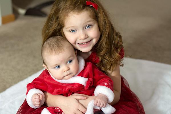 Ellie and Layla Xmas Photo Dec 2014