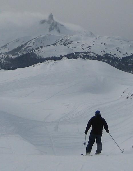 Black Tusk and Skier