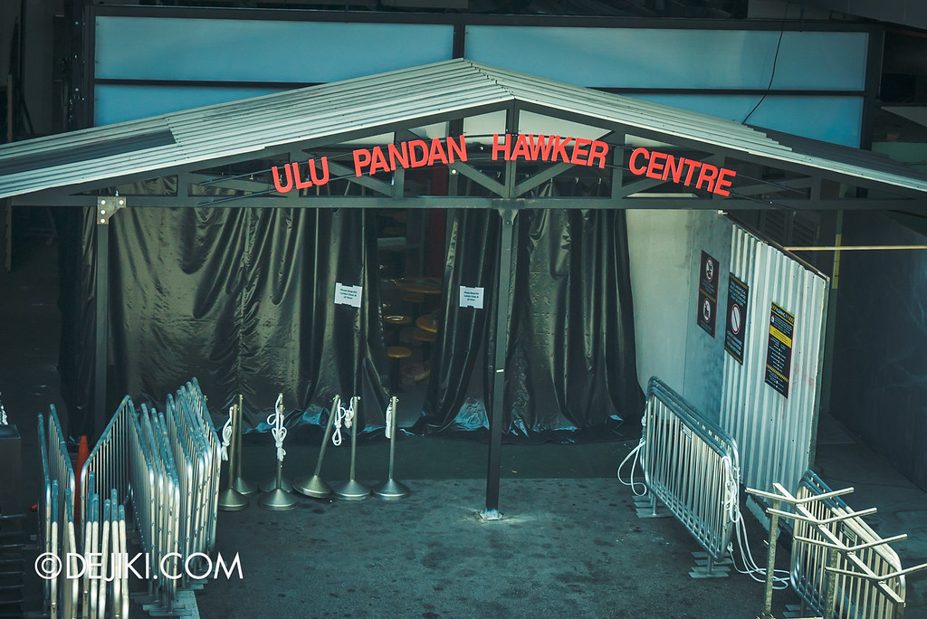 Universal Studios Singapore - Halloween Horror Nights 6 Before Dark Day Photo Report 4 - Hawker Centre Massacre / Welcome to Ulu Pandan Hawker Centre