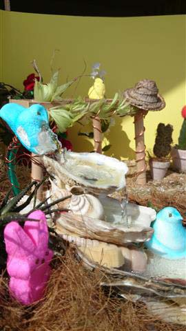 ". ""Peeps Secret Garden,\"" by Cindi Wirz, Ramsey"