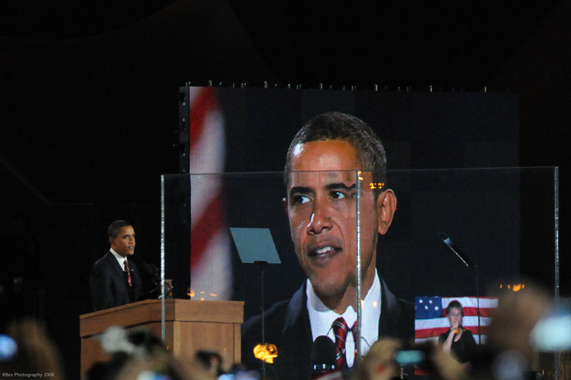 Barack Obama in Grant Park Election Night (Nov 08)