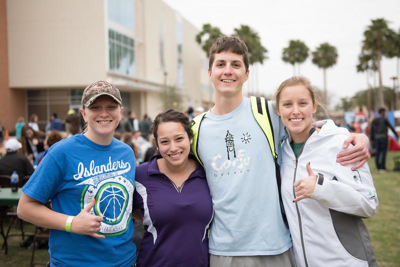 Megan O'Mary(left) Natalie Hernandez, Luke Van Getson and Alie Sherwood at the 2016 Homecoming Friday Feista.