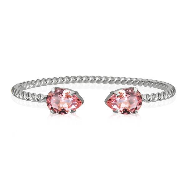 Mini Drop Bracelet / Light Rose Rhodium