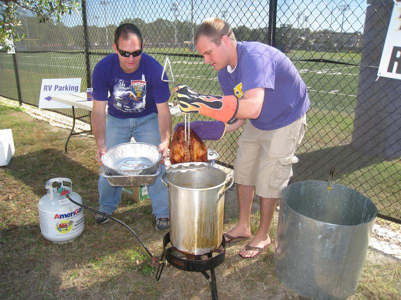 10/23/2010 ECU vs Marshall - Jon with Chuck frying a turkey