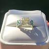 2.10ct Art Deco Peruzzi Cut Diamond Ring, GIA W-X SI2 3
